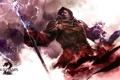 Картинка молнии, доспехи, капюшон, маг, посох, броня, Guild Wars 2