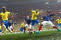 Картинка Франция, Бразилия, France, Brasil, Neymar, Pro Evolution Soccer, Lucas