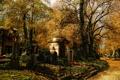 Картинка autumn, cemetery, tombs, mausoleum, tombstones