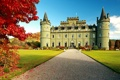 Картинка Inveraray Castle, autumn, Scotland, castle