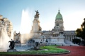 Картинка газон, памятник, фонтан, дворец, скульптуры, Аргентина, Buenos Aires