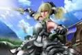 Картинка девушка, меч, платье, взмах, кальчуга