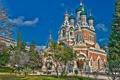 Картинка Франция, храм, France, Ницца, Nice, Saint Nicholas Orthodox Cathedral, Собор святителя Николая Чудотворца