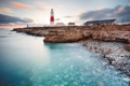 Картинка море, небо, цвета, пейзаж, природа, камни, берег
