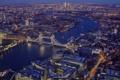 Картинка река, Лондон, Англия, дома, панорама, мост, Темза