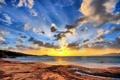 Картинка пляж, небо, вода, солнце, обои, берег, пейзажи