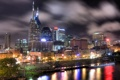 Картинка здания, ночной город, набережная, Tennessee, Nashville