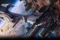 Картинка космос, планета, корабли, столкновение, Assault, Alien Breed 2