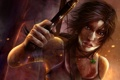 Картинка пистолет, lara croft, кулон, Tomb Raider Reborn, арт, девушка