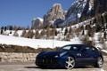 Картинка зима, горы, Ferrari