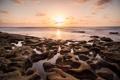 Картинка пляж, океан, рассвет, берег