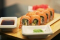 Картинка rolls, sushi, суши, роллы, японская кухня, соевый соус, soy sauce