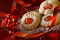 Картинка украшения, ленты, праздник, еда, печенье, Новый год, Happy New Year