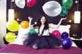 Картинка воздушные шары, настроение, selena gomez, селена гомез
