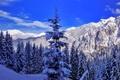 Картинка зима, пейзаж, горы, природа