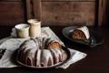 Картинка чай, кофе, пирог, торт, cake, ваниль, глазурь