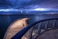Картинка море, мост, город, огни, Ontario, Blue Hour, Long Exposure