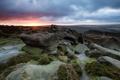 Картинка пейзаж, закат, камни