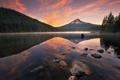 Картинка лес, вода, пейзаж, горы, озеро, отражение, камни