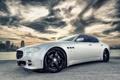 Картинка Maserati, Закат, Небо, Облака, Авто, Тюнинг, Машины
