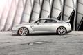Картинка серебристый, Nissan, GT-R, блик, ниссан, silvery