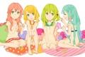 Картинка девочки, подушки, арт, бантики, vocaloid, hatsune miku, megurine luka