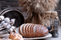 Картинка мак, тарелка, хлеб, злаки, семечки, ломти, тмин