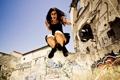 Картинка девушка, прыжок, urban