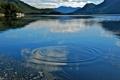 Картинка вода, круги, горы, озеро, Австралия