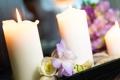 Картинка цветы, букет, свечи, свадьба, боке
