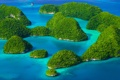 Картинка море, зелень, острова, Rock island Palau