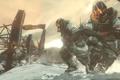 Картинка зима, снег, оружие, маска, автомат, солдаты, killzone 3