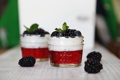 Картинка черника, мята, десерт, ежевика, йогурт