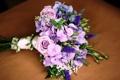 Картинка эустома, букет, розы, гортензия, цветы