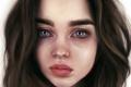 Картинка девушка, лицо, модель, арт, красавица, Ali Michael