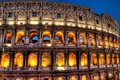 Картинка ночь, огни, колизей, италия, рим