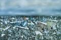 Картинка небо, облака, абстракция, картина, горизонт, камушки, Yves Tanguy