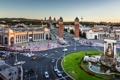 Картинка дорога, движение, проспект, дома, Испания, улицы, Барселона