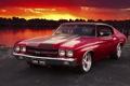 Картинка закат, chevy, шевроле, muscle car, Chevrolet Chevelle