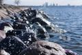 Картинка море, брызги, камни, прибой