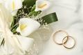 Картинка calla, цветы, rings, wedding
