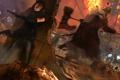 Картинка зомби, Обитель Зла, Resident Evil, молот, девушка, пистолеты, мясник