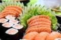 Картинка суши, sushi, herbs, рыба, fish, зелень, японская кухня