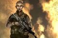 Картинка война, солдат, автомат, art