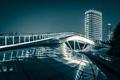Картинка мост, отражение, China, Китай, Shanghai, Шанхай, Rainbow Bridge