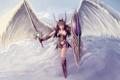 Картинка девушка, крылья, меч