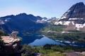 Картинка пейзаж, горы, озеро, вид, высота, Природа