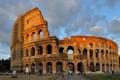 Картинка небо, облака, люди, Рим, Колизей, Италия, архитектура
