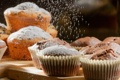Картинка выпечка, кексы, сахарная пудра