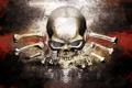 Картинка фон, череп, текстура, кости, rpg, dark waters, ризен
